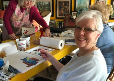 Taking Linda Gallent's still life class
