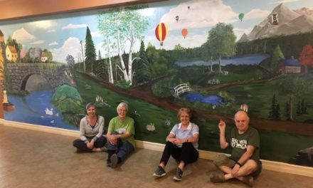 Painted mural at the Southern Comfort Villa, Bathurst, NB
